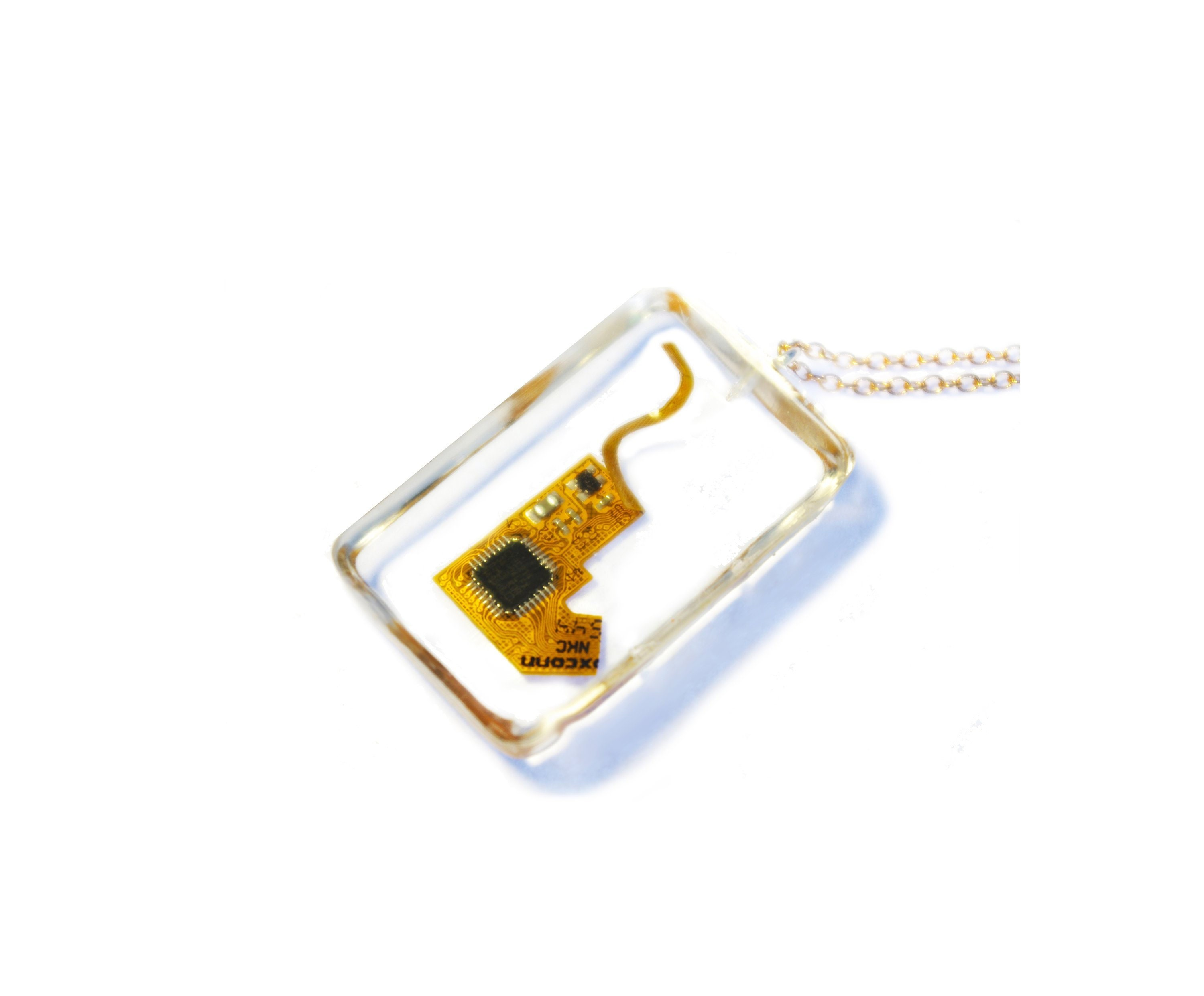 Ipod Nano Pcb Pendant Computer Chip Necklace Recycled Etsy How To Recycle Circuit Boards 50