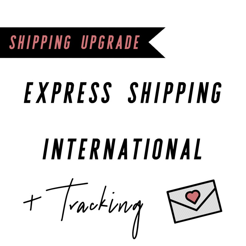 Express 3-4 days International Shipping Upgrade image 0