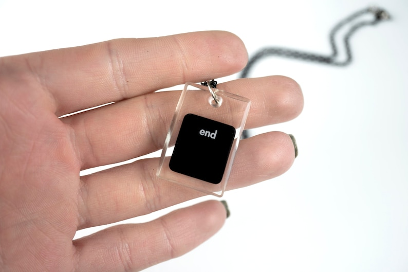 Personalized Keyboard Pendant Computer Geek Gift  Resin image 0