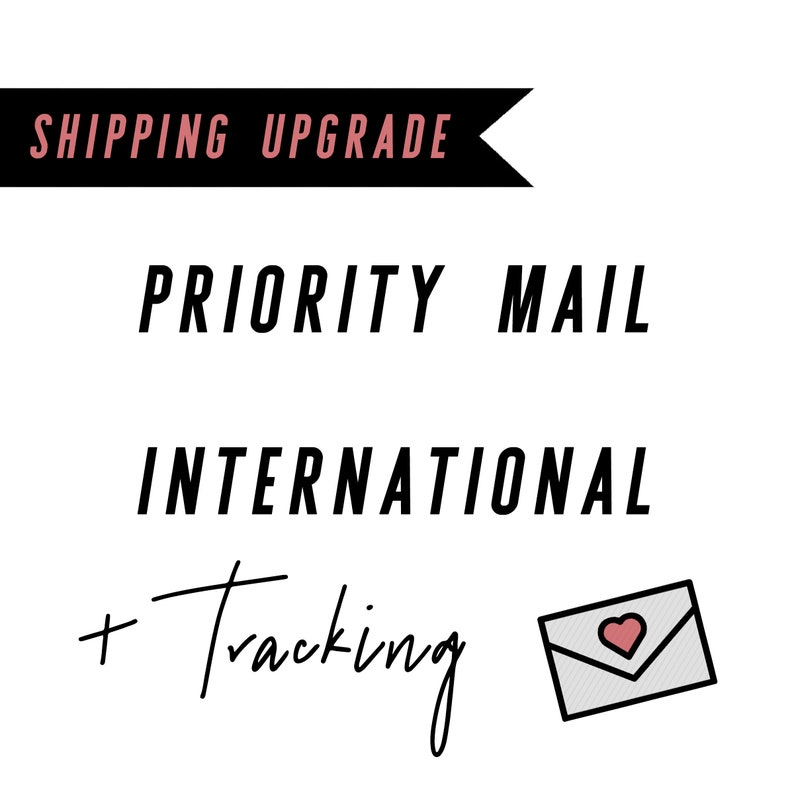 Shipping Upgrade add on  Trackable Priority Shipping 4-6 days image 0