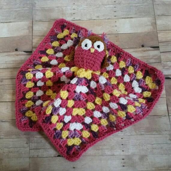 Rosa stricken Eule Eule Lovey Baby kuscheln Decke lila | Etsy