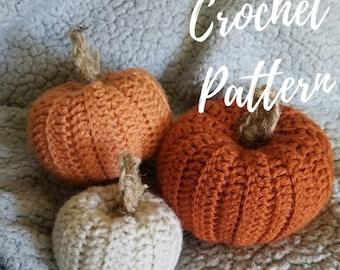 Pumpkin Crochet Pattern, Rustic Yarn Pumpkin, Fall Decor, Knit Autumn Home Decoration, DIY Crochet Pumpkin Pattern, Instant Download