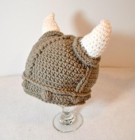 Neugeborenen Wikinger Hut Baby Häkeln Wikinger Mütze Etsy