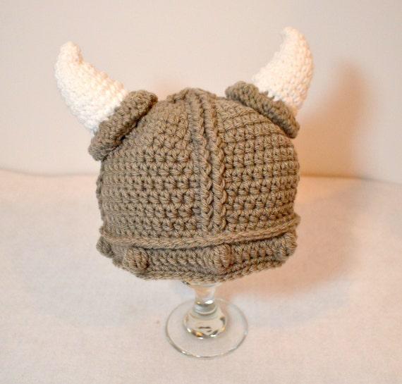 Toddler Viking Hat Baby Crochet Viking Beanie Halloween Etsy