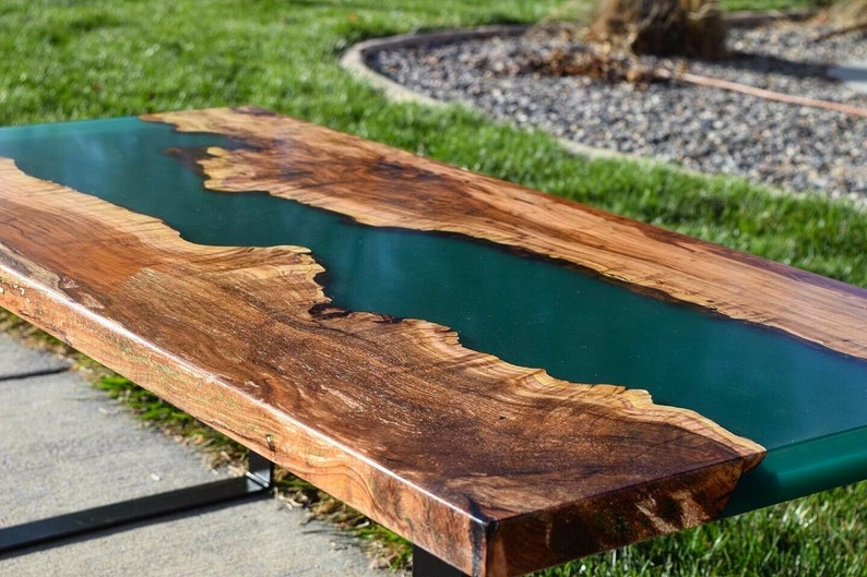 Epoxy Resin Live Edge River Wood for outside