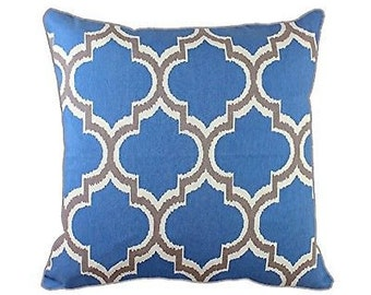 45 x 45cm Geometric Pattern Design Moroccan Tiles Cushion Arabesque Pillow Co...