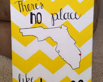 There's No Place Like Home - Custom State Canvas Painting