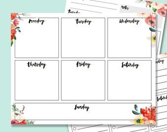 Weekly Printable Calendar, Weekly Planner Digital Download 3 pages included