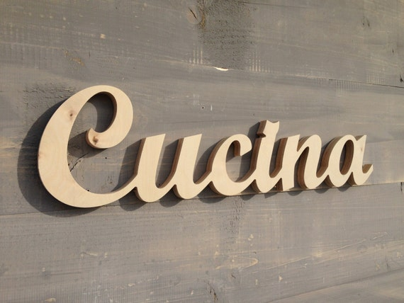Cucina italiana, Italian word for kitchen, Kitchen Sign, Kitchen Decor,  Kitchen Wood Sign Wall Hanging