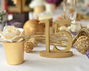 Table Number-  Weddings / Decor - Table Numbers- Table Number \ 1 to 20 set \