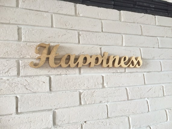 Happiness Home Decor Sign Happiness Wooden Letters Home Decor Happiness Happiness Sign