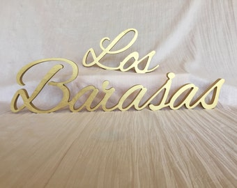 Family name / Last name Custom sign for wedding decor - The Family Name sign, The last name sign,Los familie nombre sign, Le nom family sign