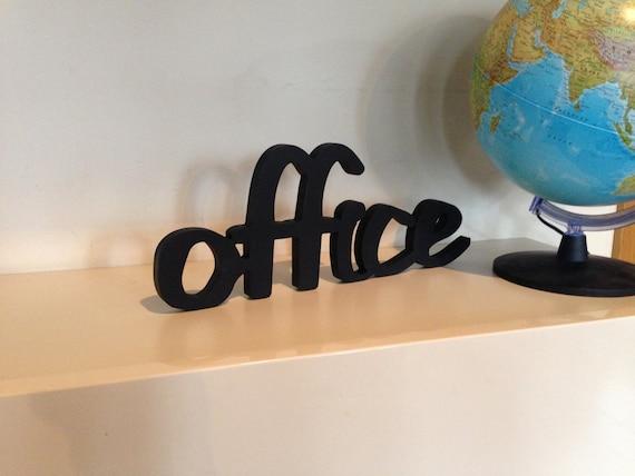 Décoration de bureau bureau en bois noir bureau mur signe