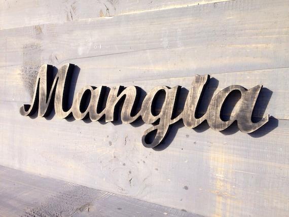 Italian Sign Mangia Italian Kitchen Sign Rustic Kitchen Decor Eat Sign Mangia