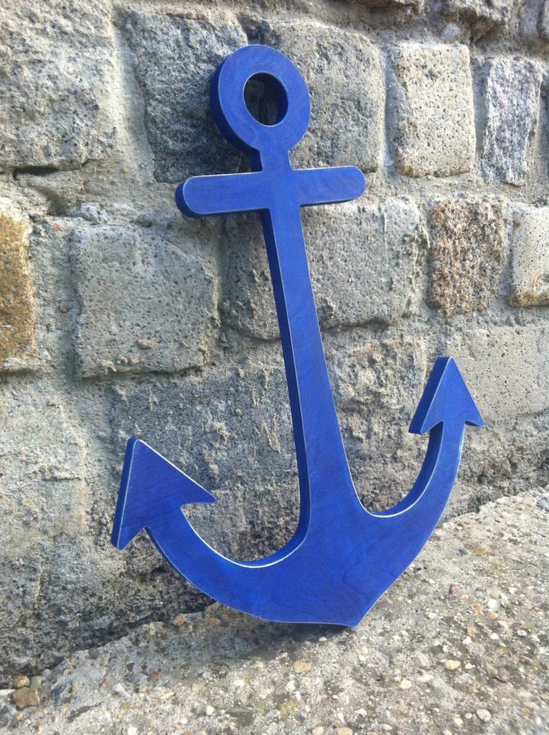 Anchor Decor Nautical Decor Wooden Anchor image 0