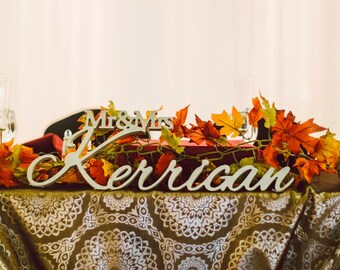 Wedding Sign, Mr and Mrs LAST NAME, Wedding,Mr & Mrs Last Name Table Sign, Wedding Decor