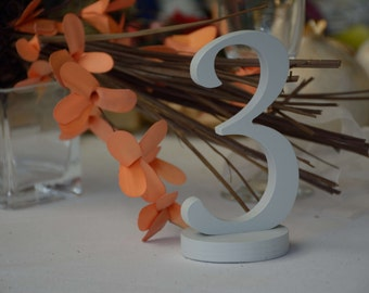 Table Numbers, Wedding Table Numbers, Rustic DIY wedding table numbers