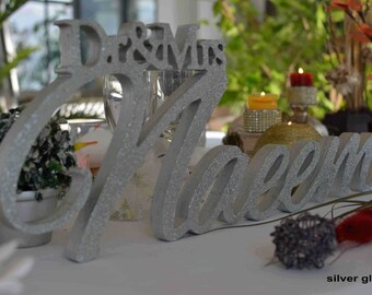 Personalized Wedding Sign Mr& Mrs- Last Name -