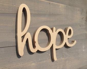 Hope - Hope Sign - Wood Hope Sign - Hope  Wood Sign Wall Hanging
