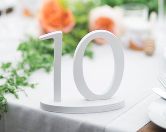 Table numbers 1 through 10, Table # 1 through 15, Table numbers for as many tables as you have