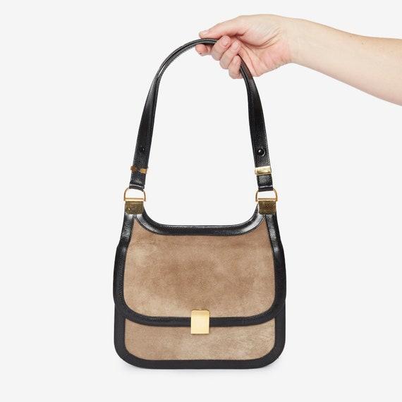 Shoulder Chic! Vintage Suede Handbag by Coblentz