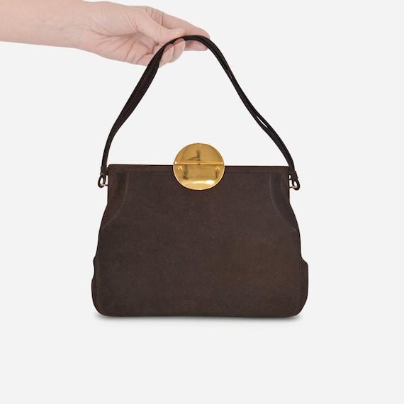 Chocolate Love! Vintage Koret Suede Handbag