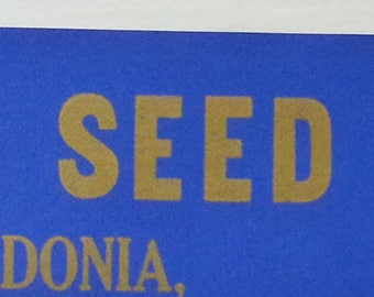 Advertising Poster For Card Seed Company in Fredonia, New York