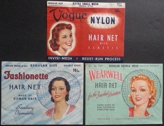Vintage 1940s Josephine  Nylon Carded Hair Nets for Hat Making