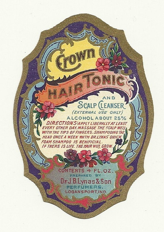 Vintage Unused 1910 15 Crown Hair Tonic And Scalp Cleanser Etsy