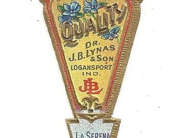 3 Vintage Unused 1910-15 La Serena Toilet Water Labels From Dr. J. B. Lynas & Son Logansport, Indiana