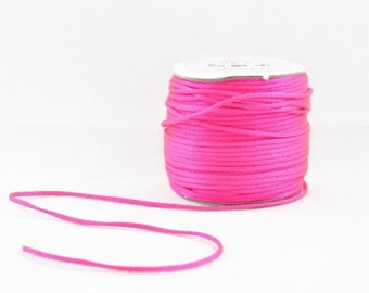 166a57be7d2 2mm NEON SATIN STRING - Neon Fluorescent Dark Pink Cord (2mm diameter) sold  by 5m length