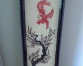 Korean Shadow Box Shell Art Piece Taiwan 1960 quot s