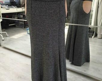 Black and silver mermaid skirt