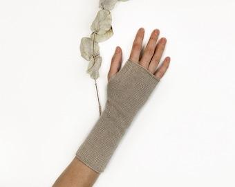 Cashmere wrist warmers. Fingerless mittens. Cashmere warmers. Knit fingerless gloves