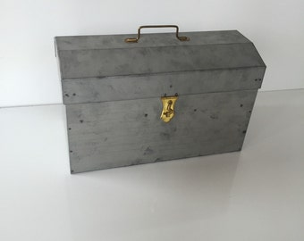 Funky Handmade Galvanized Metal Storage Box