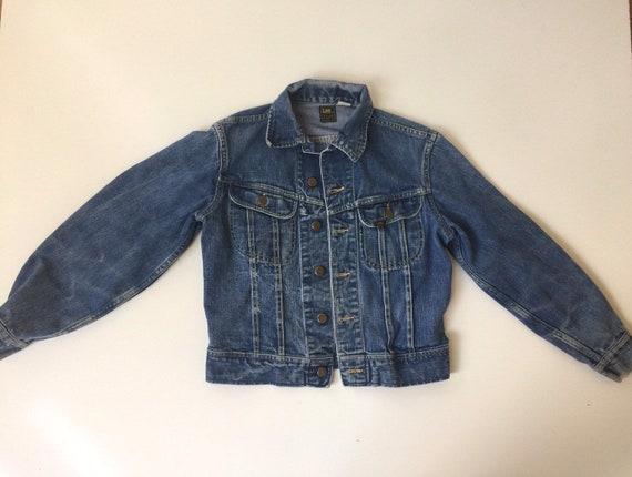 Vintage Lee Denim Jacket 1970s Womens Medium