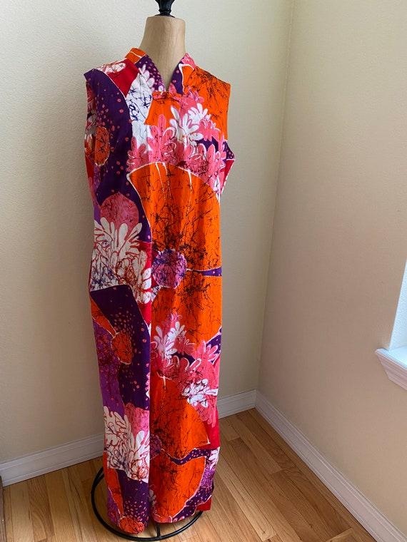Vintage Lord /& Taylor *Plus Size* Floral Jacquard Maxi Caftan Hostess Gown Robe Bathrobe