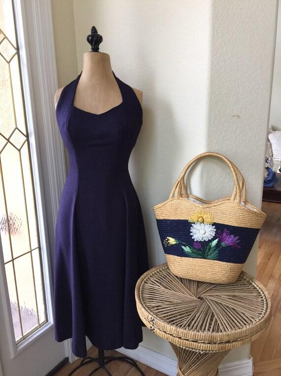 Vintage 1950s Jeanette Alexander Dress Halter Styl