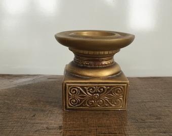 Vintage Gold Ceramic Candleholder Japan