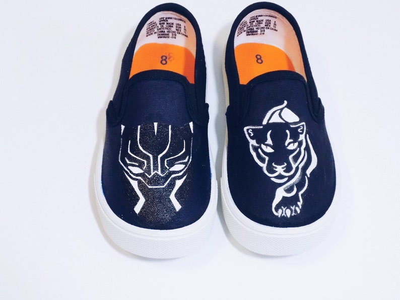 8d20d1f3c04ff Black Panther custom painted shoes. Made to Order. Hand Painted