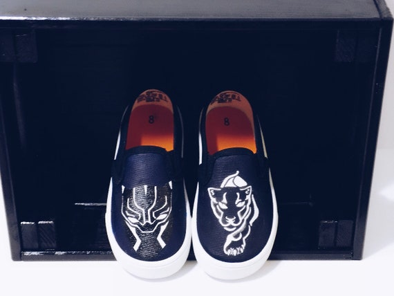 Custom Black Panther Shoes Painted by ThatShxtDead | Marvel