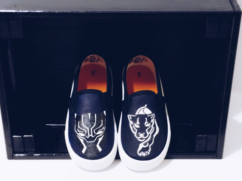 Black Panther custom painted shoes. Made to Order. Hand  c362c8926