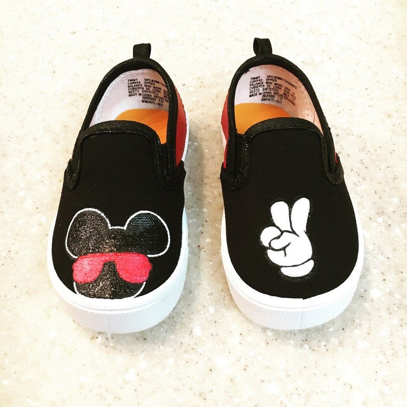 191609709485 Kids Minnie and Mickey mouse Shoes Custom Made Shoes Hand