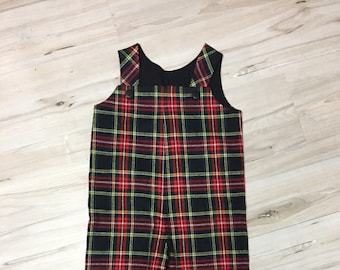c74c038e5aaed Red plaid overalls