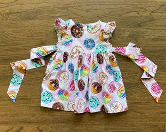 toddler Spring Summer dress baby birthday dress girls Newborn to girls 1112 Donuts dress Summer outfit