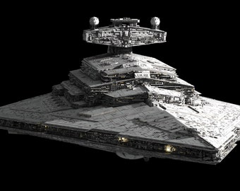 2ad0fd4b693 Huge STAR WARS IMPERIAL Star Destroyer Model Kit w detailed hanger Bay    Lamda Class Shuttle