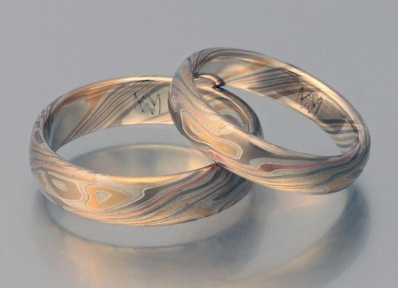 Einzigartig Handgefertigte Sterling Silber Mokume Spiel Ring Größe 10 Other Fine Jewelry Jewelry & Watches