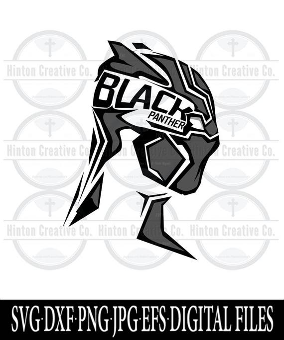 black panther head digital cut file print file svg circuit