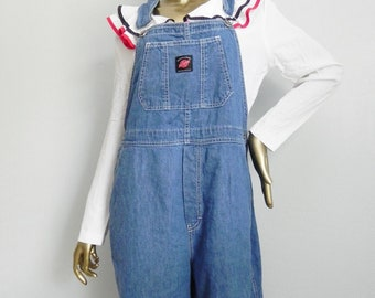 25037cea8b4 work it ~ oversize blue chambray overalls