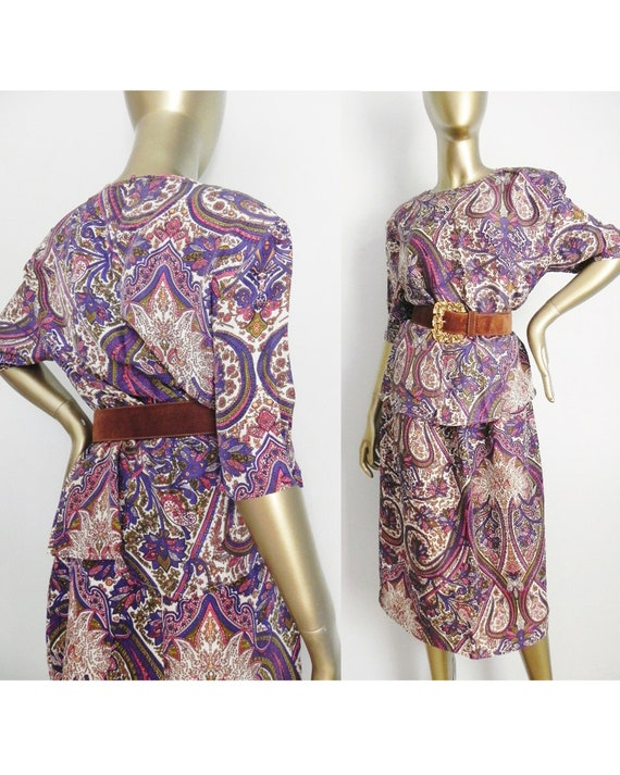 Vintage Silk Patterned Top